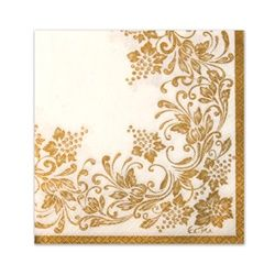Traditional gold napkins