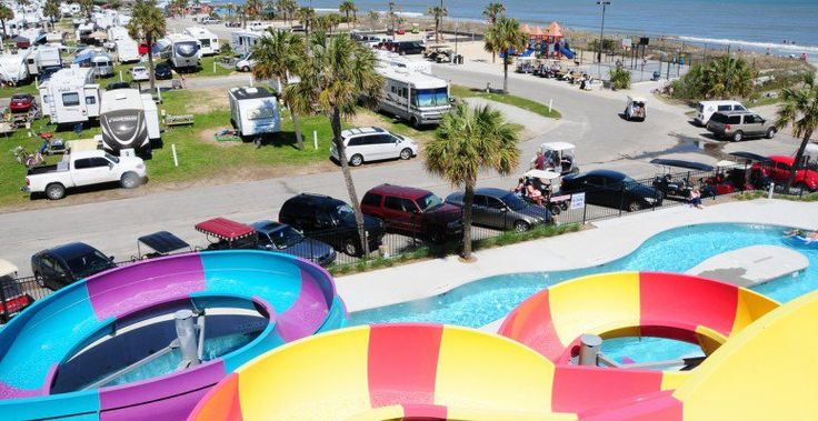 Myrtle Beach's first campground continues to get better and better. Guests now enjoy a NEW action-packed Water Park with slides for all ages and...