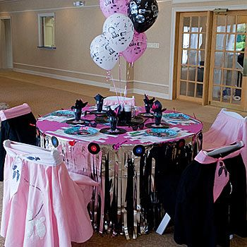 Cute way to decorate the chairs grease birthday for 1950s party decoration