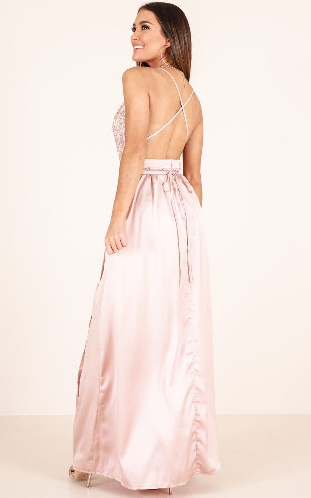 022c22bdee0 Carmen Maxi Dress In Blush Produced in 2019