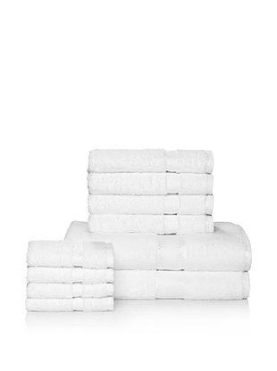 Chortex Rhapsody Royale 10-Piece Bath Towel Set, White