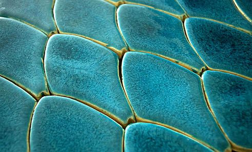 Dragon's Scales Tile by DeKa Ceramic Tiles - Handmade