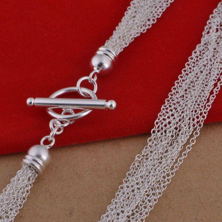 Купить оптом 925 серебряное ожерелье корейская версия пятна оптовая торговля популярным из нескольких строк кисточкой ожерелье ювелирных изделий в категории ожерелье с подвеской по цене $3.77 на Ru.dhgate.com