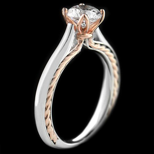 1000 ideas about Two Tone Engagement Rings on Pinterest
