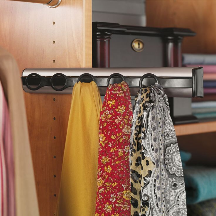 Hafele Synergy Scarf Rack With 3/4 Extension Slide 807.54.234   Closet