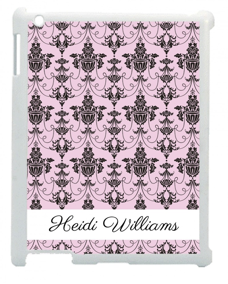 Personalised Name Pink & Black Chandelier iPad Mini Case - www.wordon.com.au
