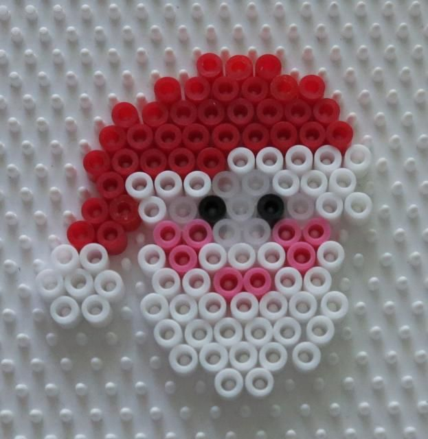 Christmas Santa perler beads