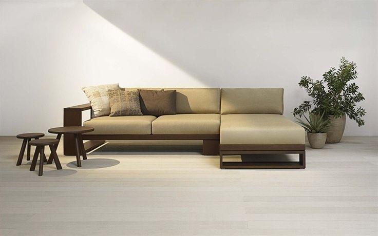 custom long L shaped wood sofa - Google Search | Room inspirations ...