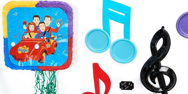 """These Wiggles party supplies are sure to have the birthday boy or girl and all of his or her guests shouting, """"Wahoo!"""" #Party #Birthday #Wiggles #Music"""