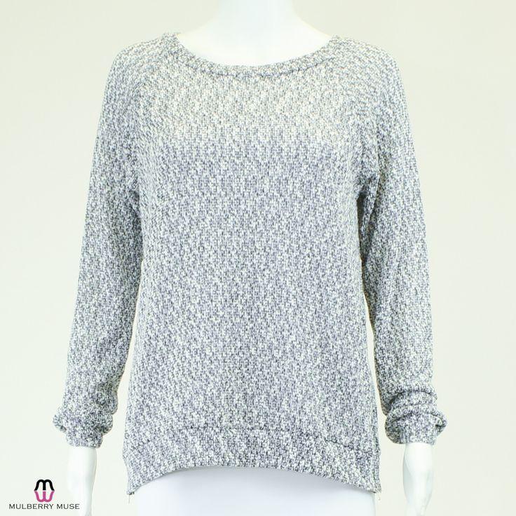 Jella Couture Mixed Marl Knit Sweater - Medium