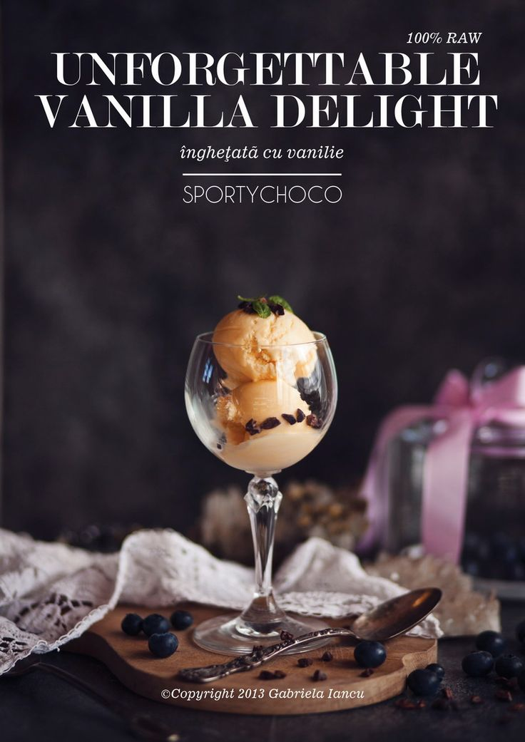 Unforgettable vanilla delight -  înghețată raw cu vanilie