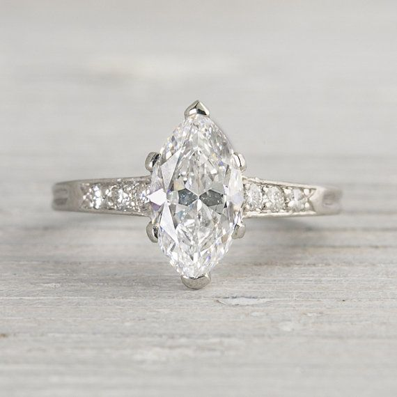 Vintage 1920s Tiffany Amp Co Marquise Ring Wedding