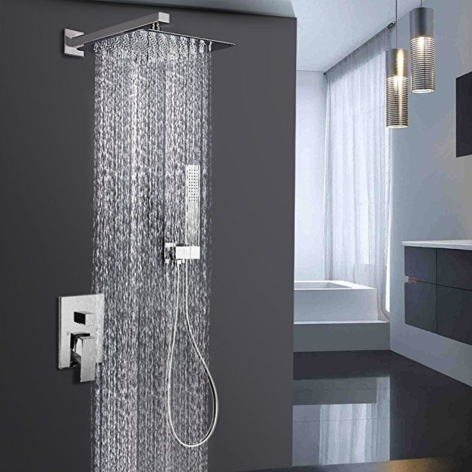 Embather Shower System Brushed Nickel Shower Faucet Set For Bathroom State Of The Art Air Injection Technolog Shower Faucet Sets Shower Systems Shower Faucet