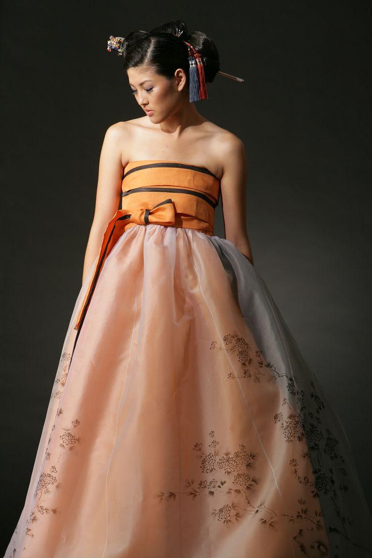 한복 Hanbok inspired dress / Traditional Korean dress / Design by Kim Me Hee