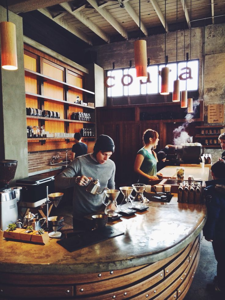 Coava Coffee Roasters, Portland. My husband in the background washing dishes. Ha!