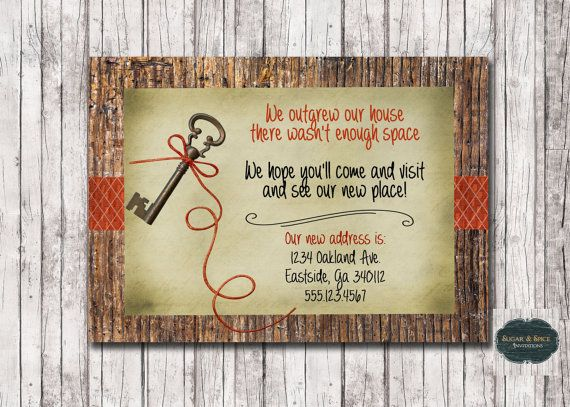 House Warming Invitation New House Party by SugarSpiceInvitation