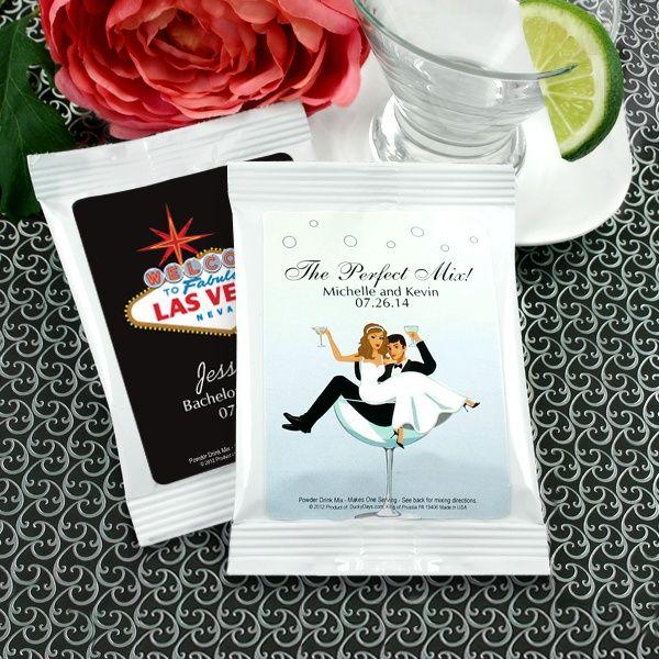 Las Vegas Personalized Margarita Mix Wedding Favors (Designing Ducks 2027000vegas) | Buy at Wedding Favors Unlimited (https://www.weddingfavorsunlimited.com/las_vegas_personalized_margarita_mix_favors.html).