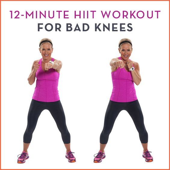 So you want to reap the benefits of High Intensity Interval Training, but you have knee pain? No sweat! This HIIT workout for bad knees is just for you.