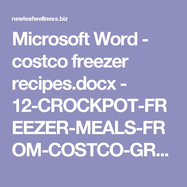 The 25+ best Costco freezer meals ideas on Pinterest Thaw - grocery list word