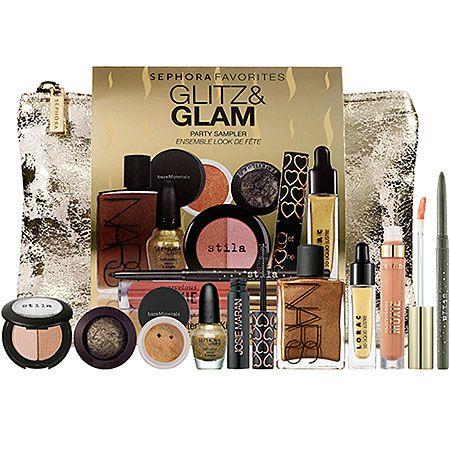 Sephora's Glitz + Glam Beauty Essentials Gift Set. Love it!