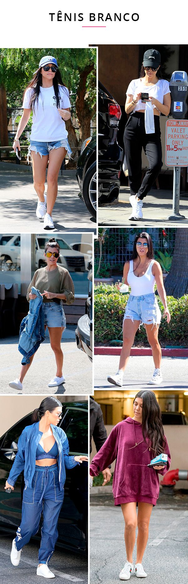 kourtney kardhian usando tenis braNCO