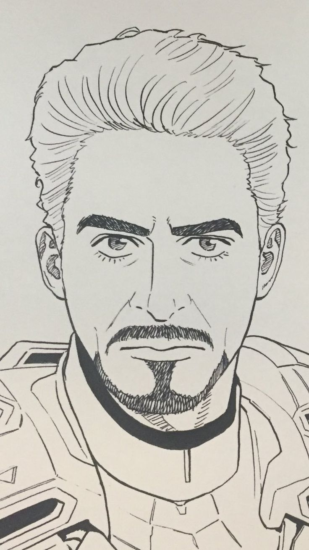 Manga Stark Tony Marvel Desenhos Desenhos Aleatorios