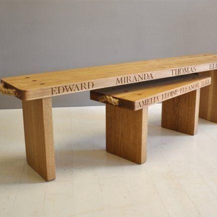 Personalised Oak Bench [CHILDREN] - £405.00 : Jonny`s Sister