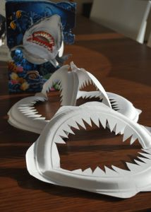 Shark Week Craft: Cheapy, fast & simple to do! Paper Plate Shark Jaws  - Fun for kids' party