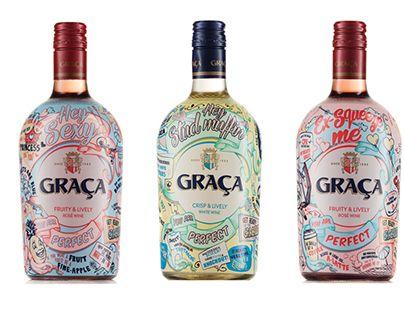 "GRAÇA ""Pick up line"" Campaign Wine Packaging"" | Bravo Design"