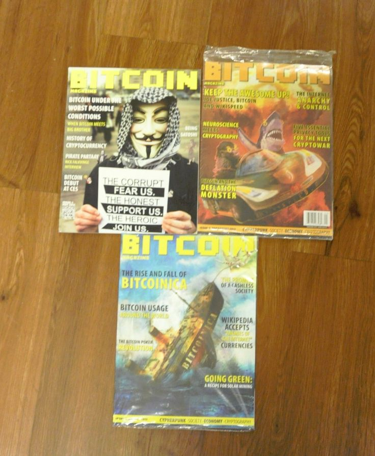 Item specifics    									 			Compatible Currency:   												Bitcoin     							 							  Bitcoin Magazine Lot  #1, 2 and 3  Free Shipping 2011 edition Satoshi Nakamoto  Price : 100.00  Ends on : 4 weeks    - #Bitcoin, #BitcoinMiner, #BITCOINMININGCONTRACT
