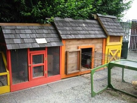 10 attractive and fascinating urban chicken coops for city for Cool chicken coop plans