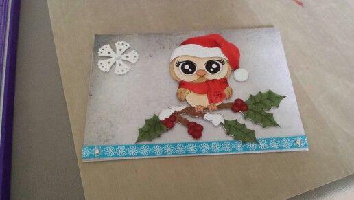 Winter owl card