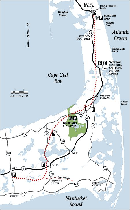 Cape Cod Rail Trail, great exercise if you can avoid all of the ice cream shops along the way!