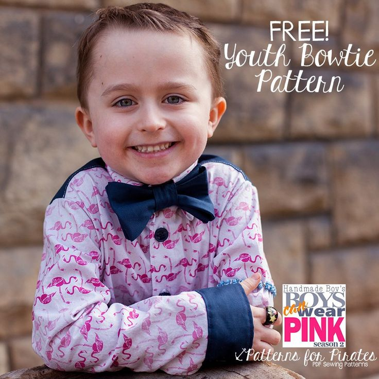 FREE Youth Bowtie Pattern! - Patterns for Pirates