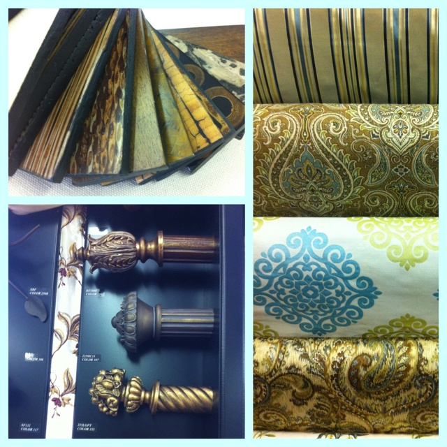 FABRIQUES has a great selection of interior fabrics & decor. Check out this elegant combo of textures and colors!