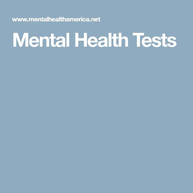 Mental Health Tests