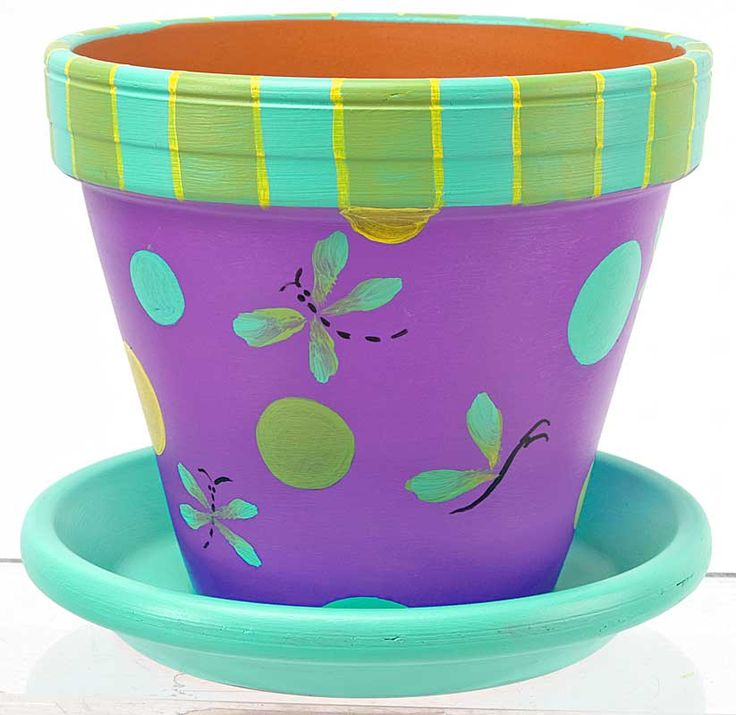 Butterfly and Dragonfly Pot project from DecoArt