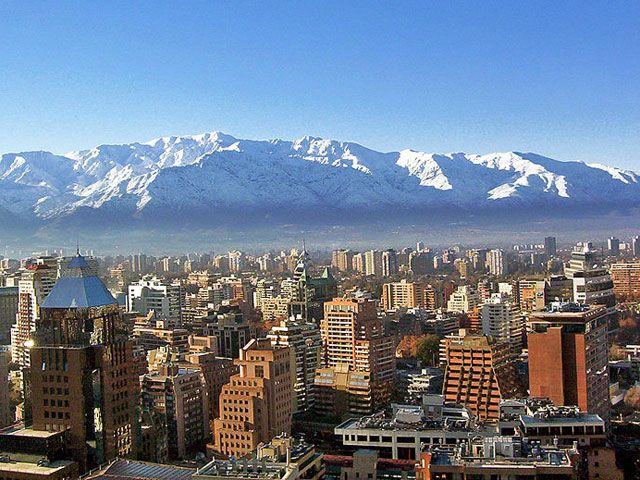 Santiago, Chile with the awesome Andes behind it!