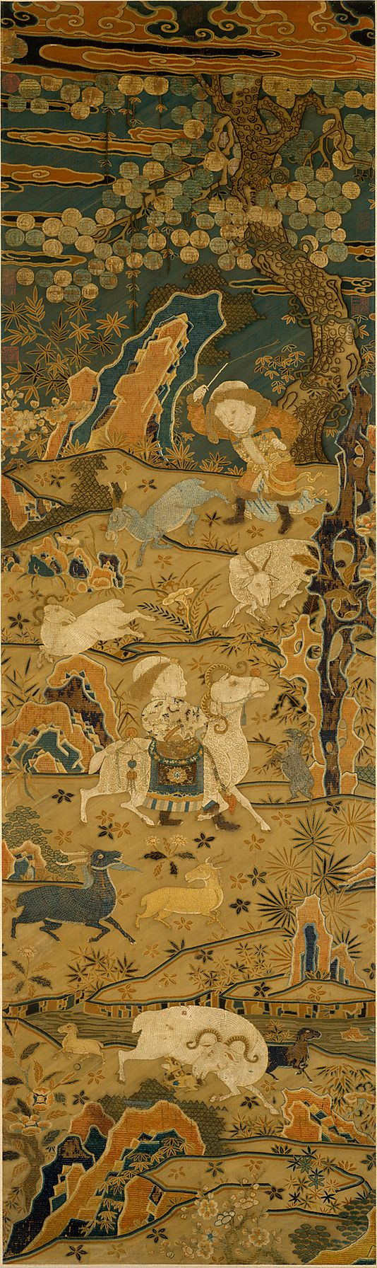 Welcoming Spring. Unidentified Artist 14th–15th century. China. The Metropolitan Museum of Art, New York. Purchase, The Dillon Fund Gift, 1981 (1981.410) #spring