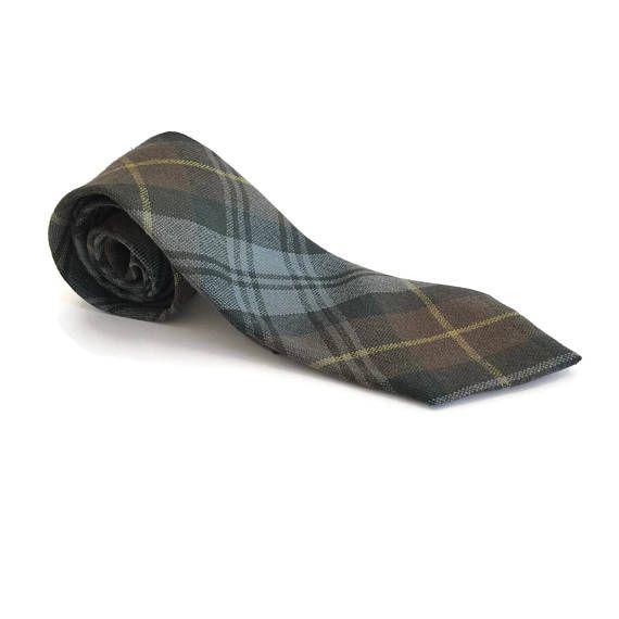 Gents Wool Tartan Tie, Gordon Tartan Men's Necktie, Scot Clans Tartan Tie Made in Scotland, Scottish Clan Tartan, Mens Accessories http://etsy.me/2sVfKY5