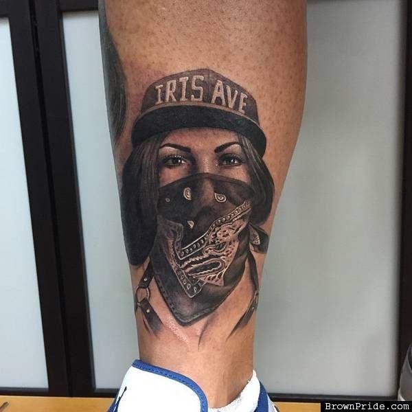 Girl with Bandana Tattoo by Chuy Espinoza Tattoos