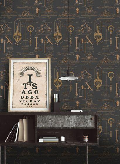 14 best Tapeten mit Fischen images on Pinterest Fish wallpaper - retro tapete wohnzimmer