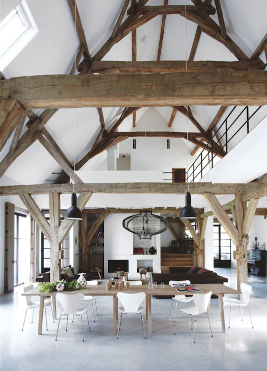 Perfect Rustic Dining - Modern Country by Caroline Clifton Mogg. Too rustic or perfect?