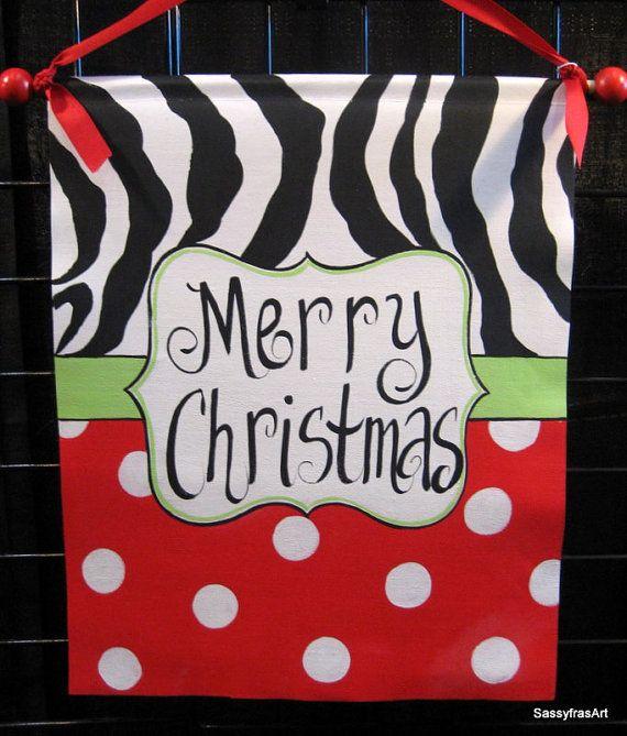 Zebra Christmas Sign