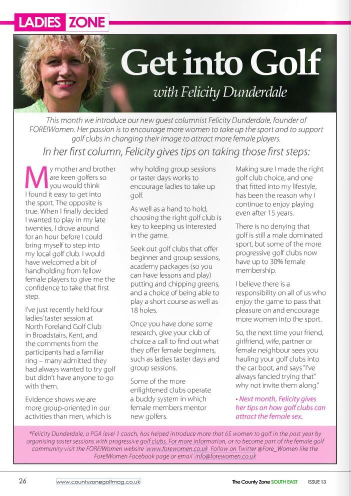 My first guest column in County Zone Golf Mag (July 2015)