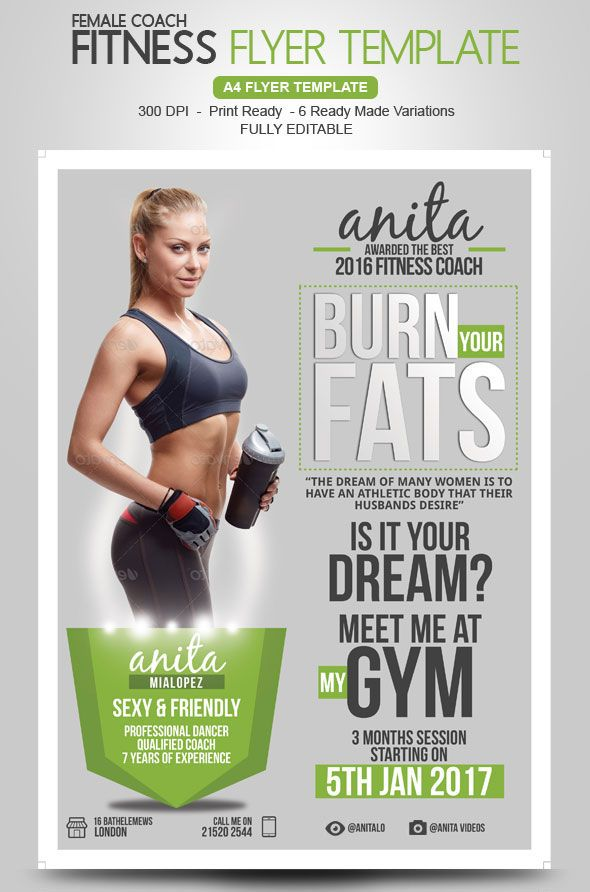 29 best Flyer Design images on Pinterest Templates, Burgers and - fitness flyer