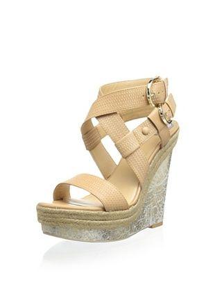 60% OFF Donald J Pliner Women's Michelle Platform Wedge Sandal (Natural)