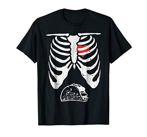 Taco Skeleton Rib Cage Halloween Costume Girls Fitted T-Shirt