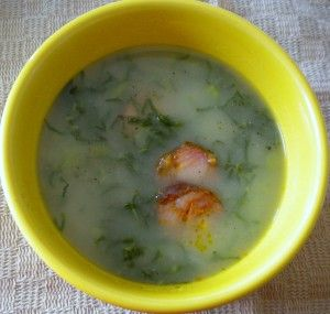 Portuguese Caldo Verde - Green Soup Kale Soup