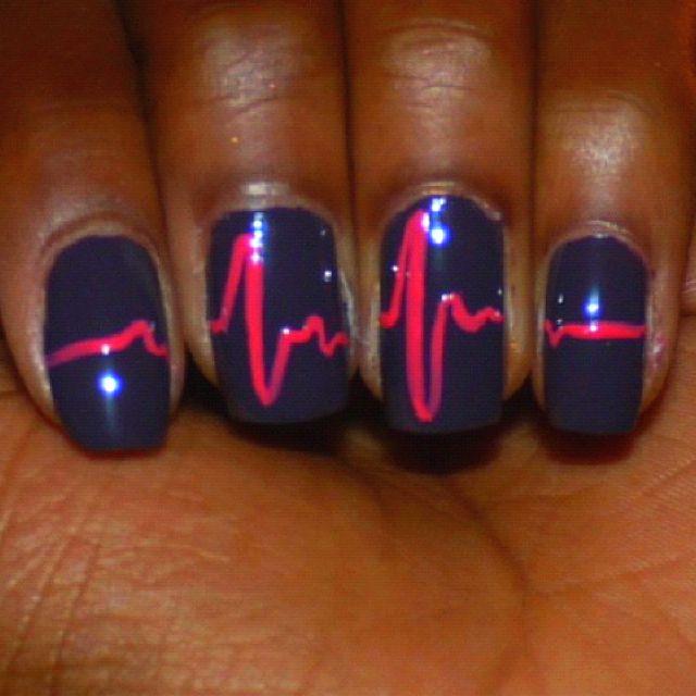 Heart beat nails! :)
